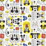 Disney Mickey Mouse White Camelot 100% cotton fabric by the yard