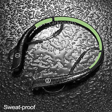 Bluetooth 4.0 Sweat Proof Foldable Neckband Wireless Stereo Headset for Phone