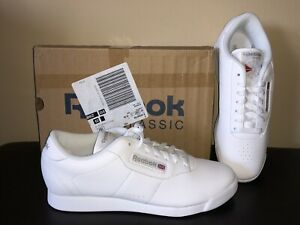 NEW Vintage Reebok Princess White 1475 Classic Leather Shoes Sneakers Women's 10