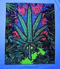 "Weed leaf // Blacklight UV reactive tapestry // 23x28"" // Ganja // Marijuana //"