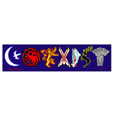 CS260-MAG Coexist Game of Thrones Sigil Parody Color MAGNET bumper sticker