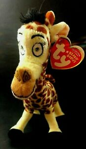 TY Beanie Babies  2008 - Madagaascar  Melman giraffe Stuffed Animal New toy