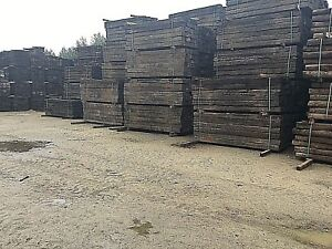 """Reclaimed Pine Railway Sleepers Grade """"A"""" Landscaping (delivery available)"""