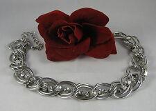 Dazzling Rhinestone Silver tone Chain  Necklace FERAL CAT RESCUE
