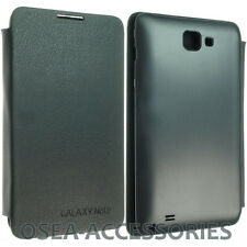 Samsung Galaxy Note 1 i9220 Battery Back Leather Case Wallet Slim N7000 Cover