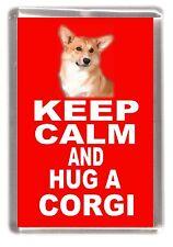 "Corgi Pembroke Dog Fridge Magnet ""KEEP CALM AND HUG A CORGI"" by Starprint"