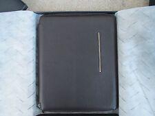 Piquadro brown leather slimline A4 note pad holder-compendium PB1164MO/TM2