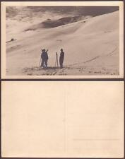 Alpine Skiing old real photo PC pre 1940. Unknown place. Sports
