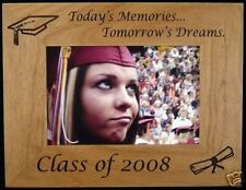 Personalized 4x6 Wood Picture Frame, Graduation 2010