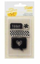American Crafts Clear Stamp Set ~ Amy Tangerine, Cut & Paste TODAY ~ 4ct ~366079