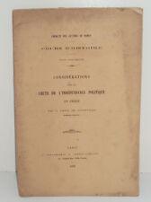 Considérations sur la Chute de l'Indépendance Politique en Grèce, 1872