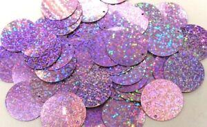 100 Gramm Pailletten-Geld Durchmesser 20mm Farbe: Violett hell