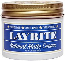 LAYRITE NATURAL MATTE CREAM POMADE 4.25 OUNCE