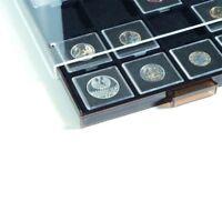 Leuchtturm Münzbox für QUADRUM mit 20 eckigen Fächern, 50x50 mm, rauchfarben mit