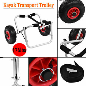 Kayak Canoe Wheel Boat Carrier Trolley Cart 176 lbs Load Bearing Aluminium