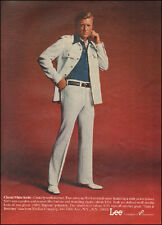 1975 Vintage ad for Lee Classic White Knits` 70's Fashion Sexy Man (071116)