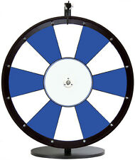 24 Inch Blue and White Portable Dry Erase Spinning Prize Wheel with Custom Logo