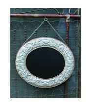 Large Oval Hanging Chalkboard~Embossed Galvanized Frame~Farmhouse Decor