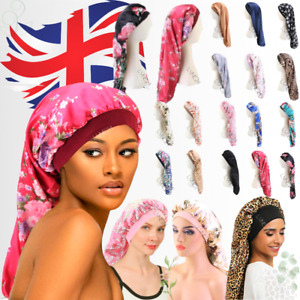 Satin Silk Bonnet Sleep Cap Head Cover Turban Wrap Long Hair Sock 24Hrs Delivery