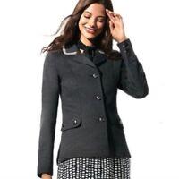 Cabi Blazer Womens Size Small Long Sleeve Ponte Knit Crew Jacket Gray