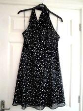 Ladies Girls Topshop Dress Size 16 Halter Neck Black
