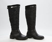 DKNY Women's Cascade Rain/Weather Black Boots with Buckle
