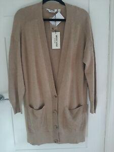 WULI:LUU by Gok Wan Longline Cardigan Size Small CAMEL BNWT RRP £48.96