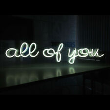 All of you Neon Sign Light Store Display Beer Bar Sign 14''x 6'' TN74