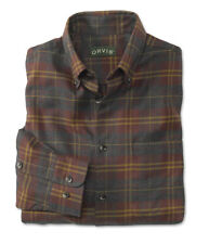 ORVIS Luxury Flannel Long Sleeve Men's Shirt BUTTON DOWN / WINE / LARGE / $139