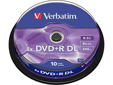 Double Layer Rohlinge Verbatim DVD+R 8,5 GB 10er Spindel
