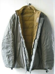 Dutch Reversible Thermal Jacket Soft Insulated Green Tan Cold Military Surplus