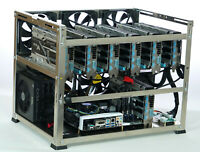 Crypto Monster mining case, 6 or 7 GPU, all aluminum rig, back with a vengeance!