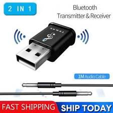 USB Bluetooth 5.0 Sender Empfänger Adapter TV PC Auto AUX Lautsprecher Dongle