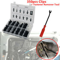 350PCS Clips Car Body Nylon Push Pin Rivet Trim Fastener Screwdriver Remover Kit