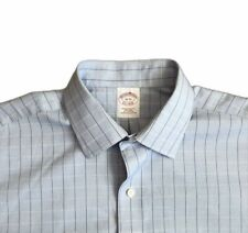 Brooks Brothers 1818 Sz 16-33 Mens Dress Shirt Long Sleeve Plaid EUC S5