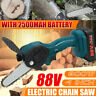 18V/88V Mini 4 Inch Chainsaw Cordless Electric Portable Chainsaw Rechargeable