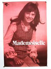 CAROLINE VERDI - MADEMOISELLE - ORIGINAL POSTER – VERY RARE – CIRCA 1970