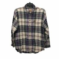 Woolrich Mens Button Front Shirt Multicolor Plaid Flannel Long Sleeve Pocket L