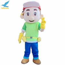 Advertising Handy Manny Mascot Costume Cosplay Adults Fancy Dress EPE Head Newly