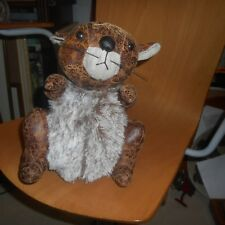 high quality leather and faux fur squirrel doorstop