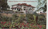 Postcard Mariposa Residence A.C. Bilicke South Pasadena CA