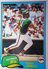 Tony Armas 1981 Topps Oakland Athletics  #629 Baseball Card
