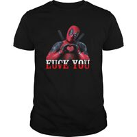 Deadpool Fk You Love You T Shirt Funny Deadpool Black Cotton Men TShirt S-6XL