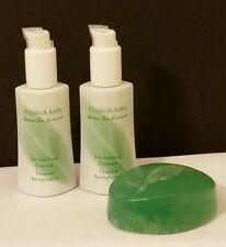 Elizabeth Arden GREEN TEA Skin Care Revitalizing Essence Lot of 2 +FREE SOAP