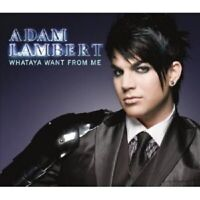 "ADAM LAMBERT ""WHATAYA WANT FROM ME"" CD 2 TRACK SINGLE"