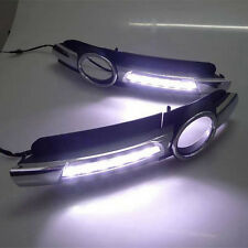 2X LED Daytime Running Light For Audi A6 A6L C6 DRL Fog Driving Lamp 2005-2008