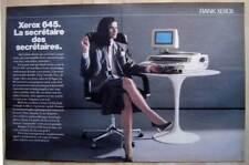 Publicité Papier - Machine À Écrire Électronique Rank Xerox 645 De 1985