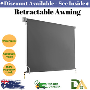 Outdoor Roller Blinds Roll Down Blind Shaded Screen Privacy Retractable Awning