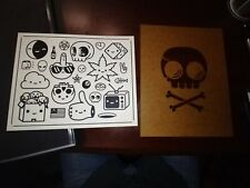Mike Mitchell skully template and flash sheet fat kingdom screenprint