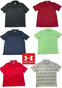 UNDER ARMOUR HeatGear Miscellaneous Golf Polo Shirts size Large - CLEARANCE